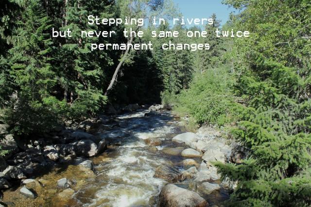 rivers haiku